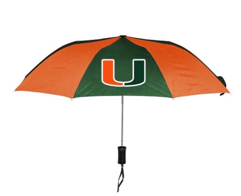 Miami Hurricanes Sporty Automatic Folding Umbrella