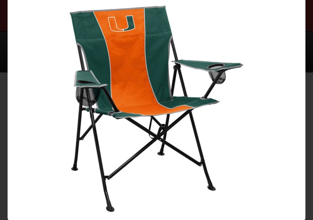 Miami Hurricanes Logo Brand Pre-Game Tailgating Chair