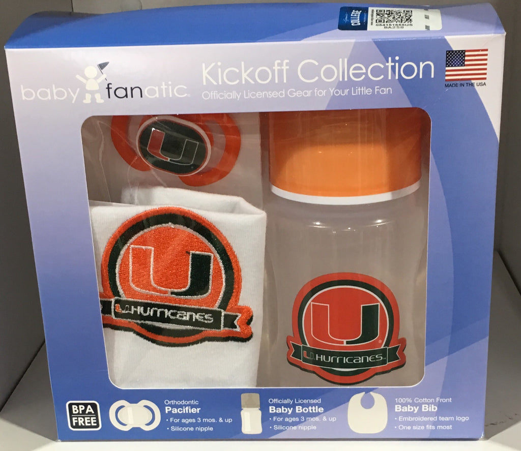 Miami Hurricanes Baby 3-Pieced Gift Set
