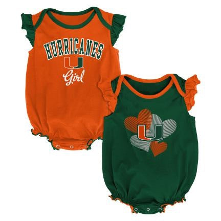Miami Hurricanes  CELEBRATION 2PC CREEPER SET