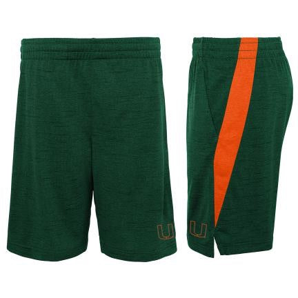 Miami Hurricanes Gen2 Content Performance Shorts - Green