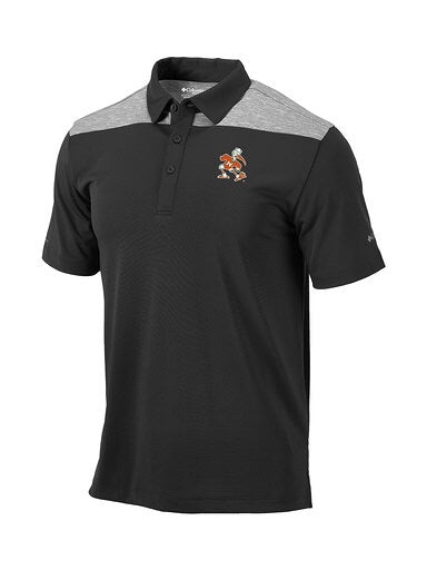 Miami Hurricanes Columbia Omni-Wick Utility Polo - Forged Iron