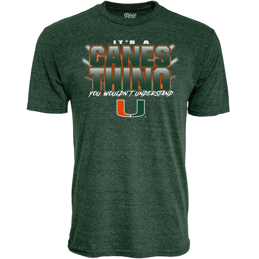 Miami Hurricanes It's A Canes Thing  Tri-blend T-Shirt - Green