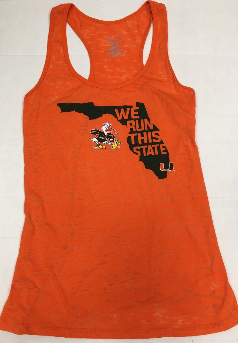 Miami Hurricane Women's We Run This State Tank Top