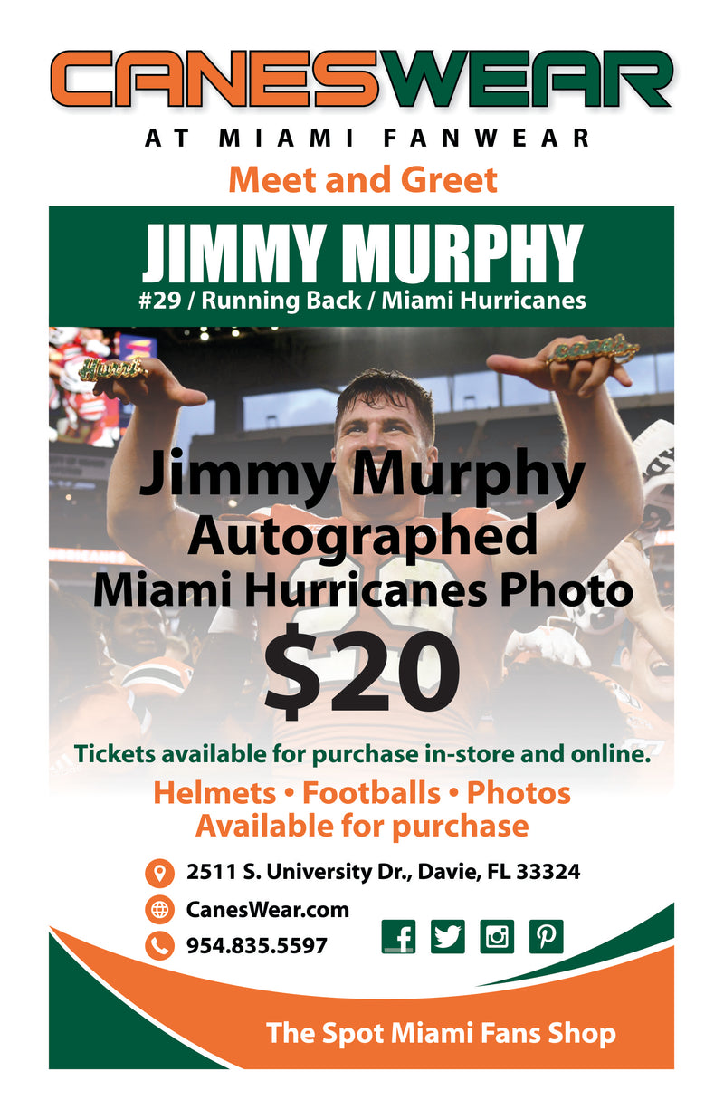 Pre-Purchase Jimmy Murphy Autographed Photo - 8 x 10