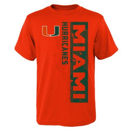 Miami Hurricanes Youth Challenge Performance T-Shirt - Orange