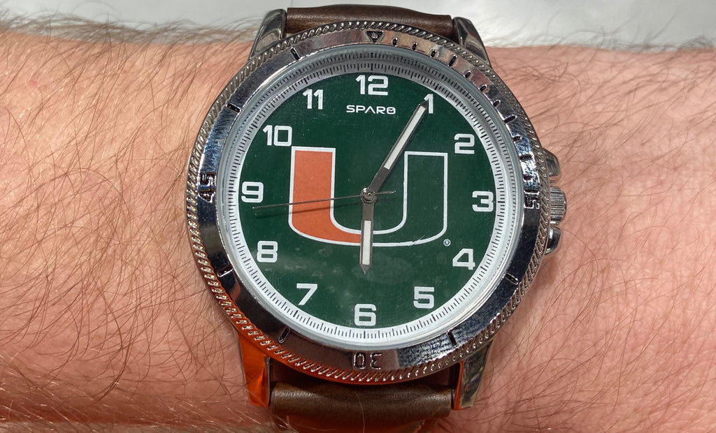"Miami Hurricanes Men's ""Classic Series""  Sports Watch"