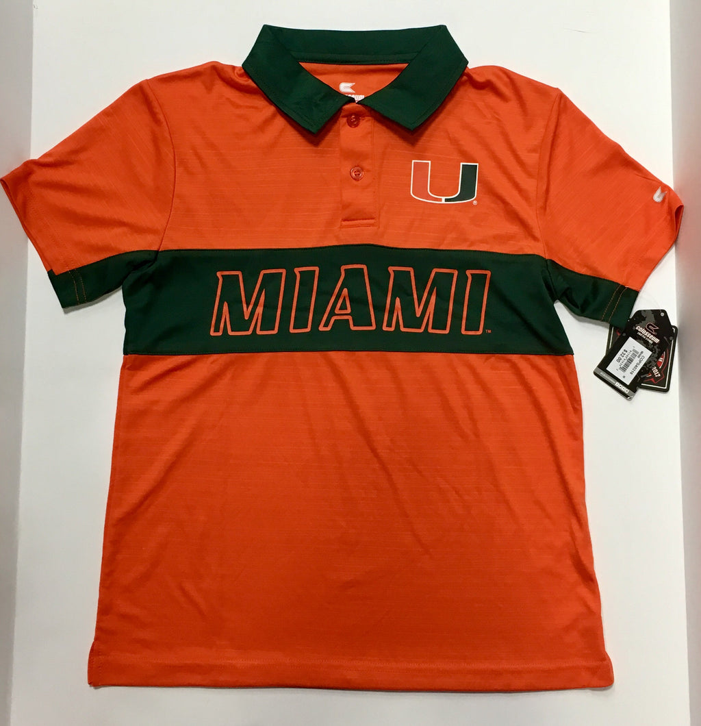 Miami Hurricanes Colosseum Youth Setter S/S Polo Shirt
