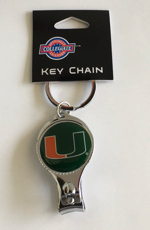Miami Hurricanes 3 in 1 KeyChain Nail Clipper/Bottle Opener