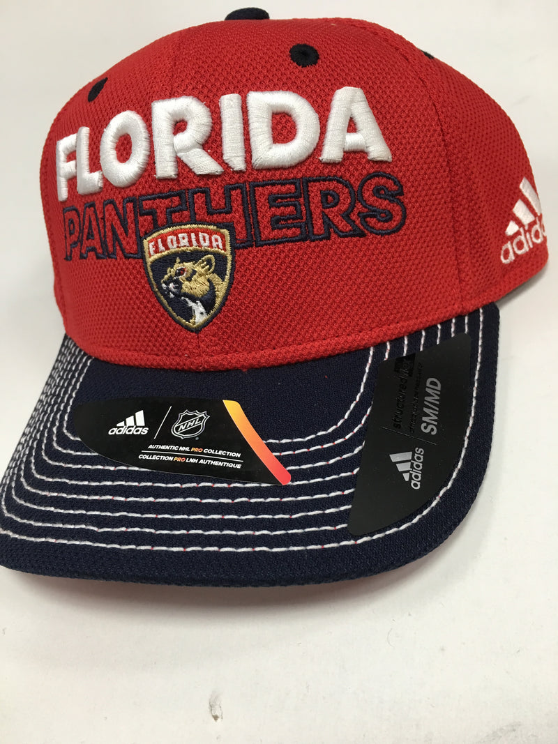 Florida Panthers adidas LOCKER ROOM Structured Flex Hat - Red