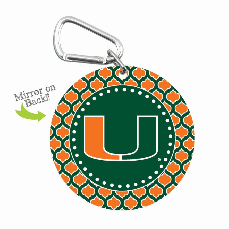 Miami Hurricanes Mini Mirror Keychain