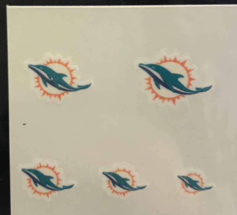 Miami Dolphins Fingernail Tattoos