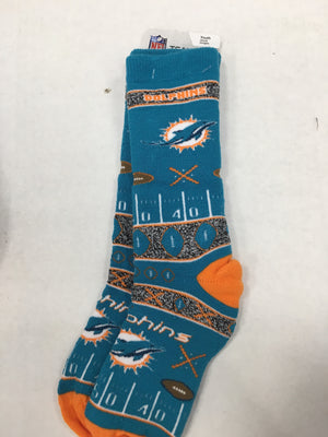 Miami Dolphins Super Fan Socks - YOUTH