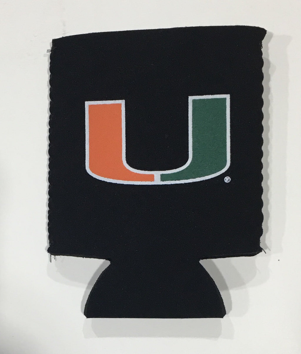 Miami Hurricanes Can Hugger Coozie - Black