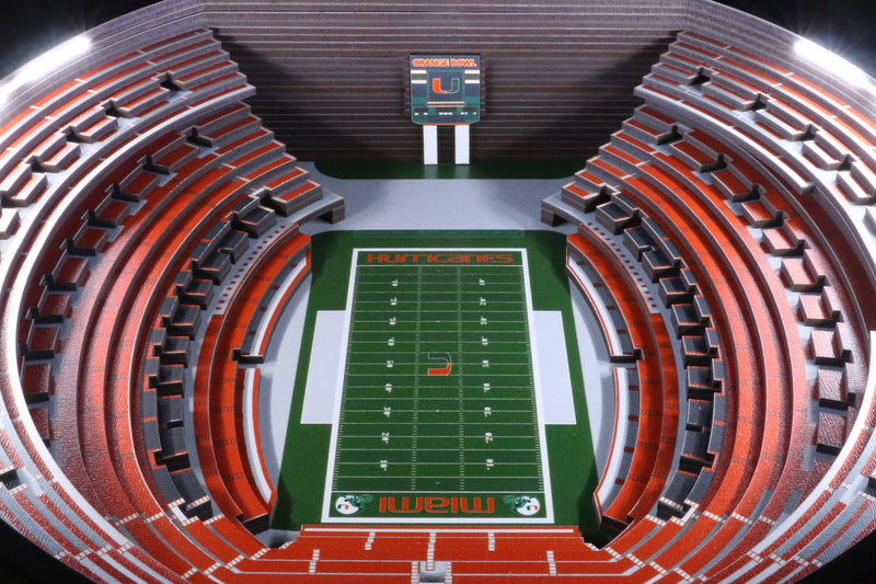 Miami Hurricanes Orange Bowl 25 Layer Lighted StadiumView Table