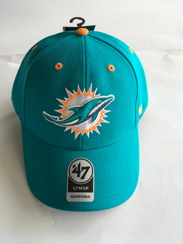 afaf7d11f1b Miami Dolphins 47 Brand Audible Adjustable Hat - Aqua