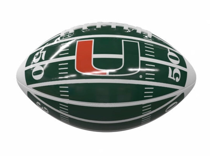 Miami Hurricanes Logo Mini Glossy Football