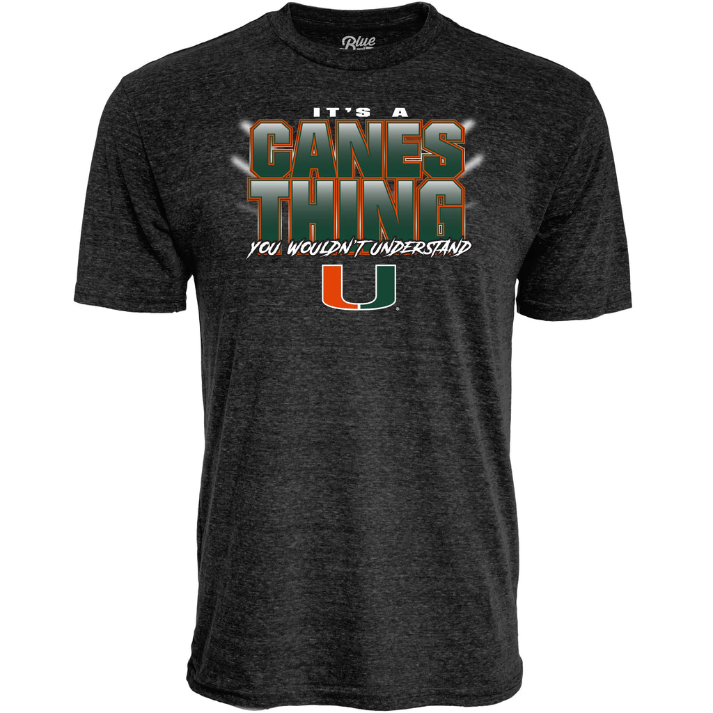Miami Hurricanes It's A Canes Thing  Tri-blend T-Shirt - Heather Black