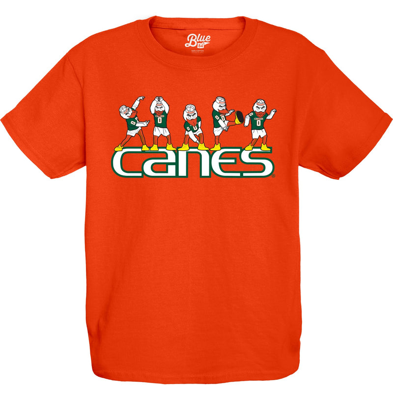 Miami Hurricanes Youth Sebastian Canes T-Shirt - Orange