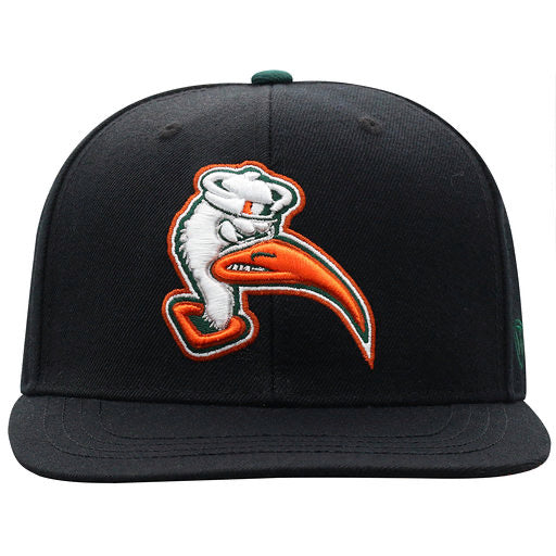 Miami Hurricanes Youth Ibis Xplosion Snapback Hat Black