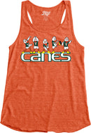Miami Hurricanes Women's Sebastian CANES Tri-Blend Racerback Tank Top - Orange