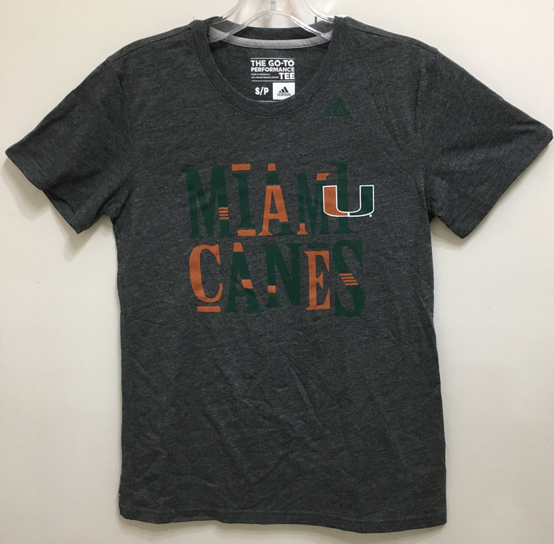 Miami Hurricanes adidas Women's Mix It Up T-Shirt - Charcoal Grey