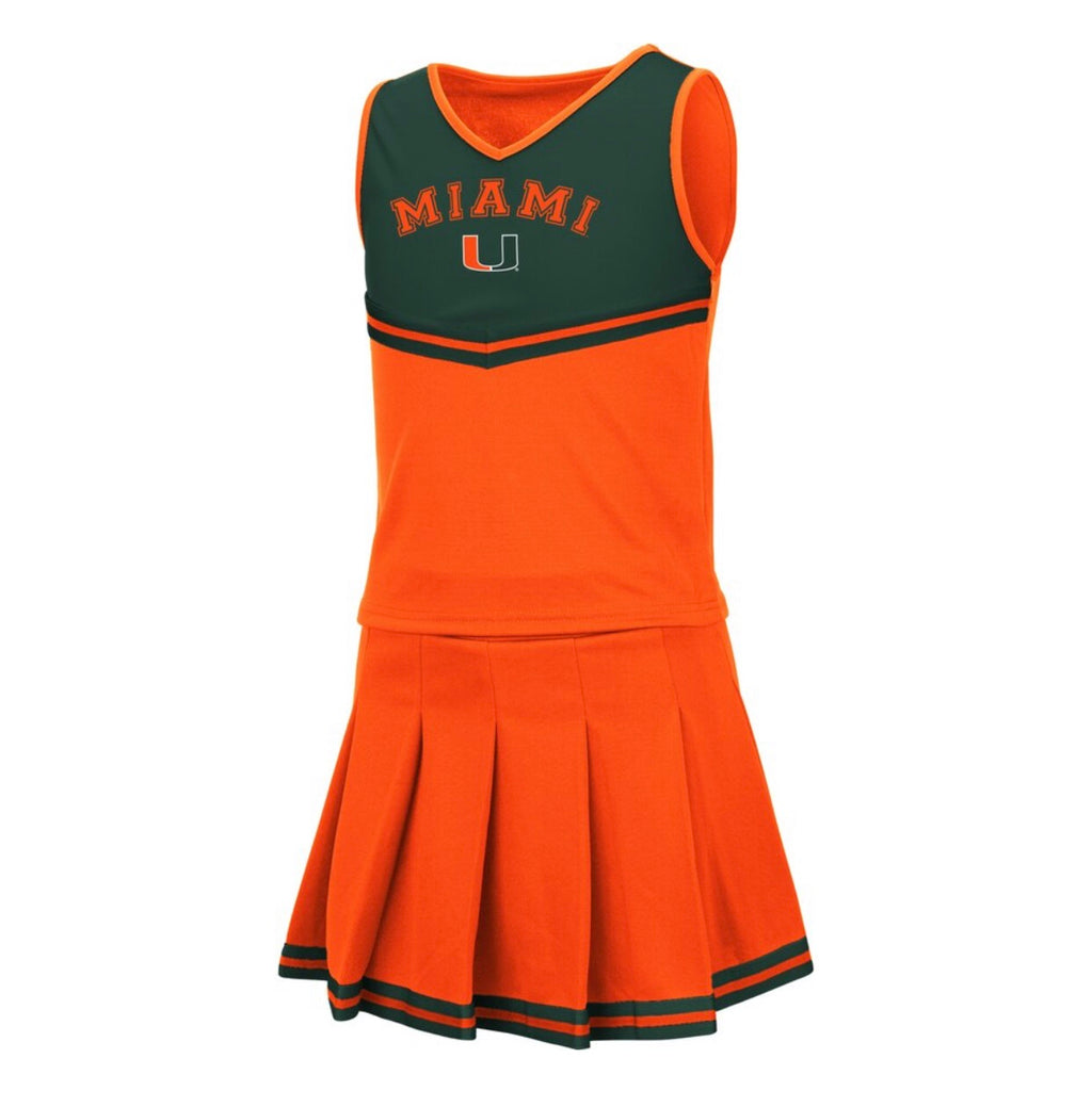 Miami Hurricanes 2019 GIRLS PINKY CHEER SET - ORANGE