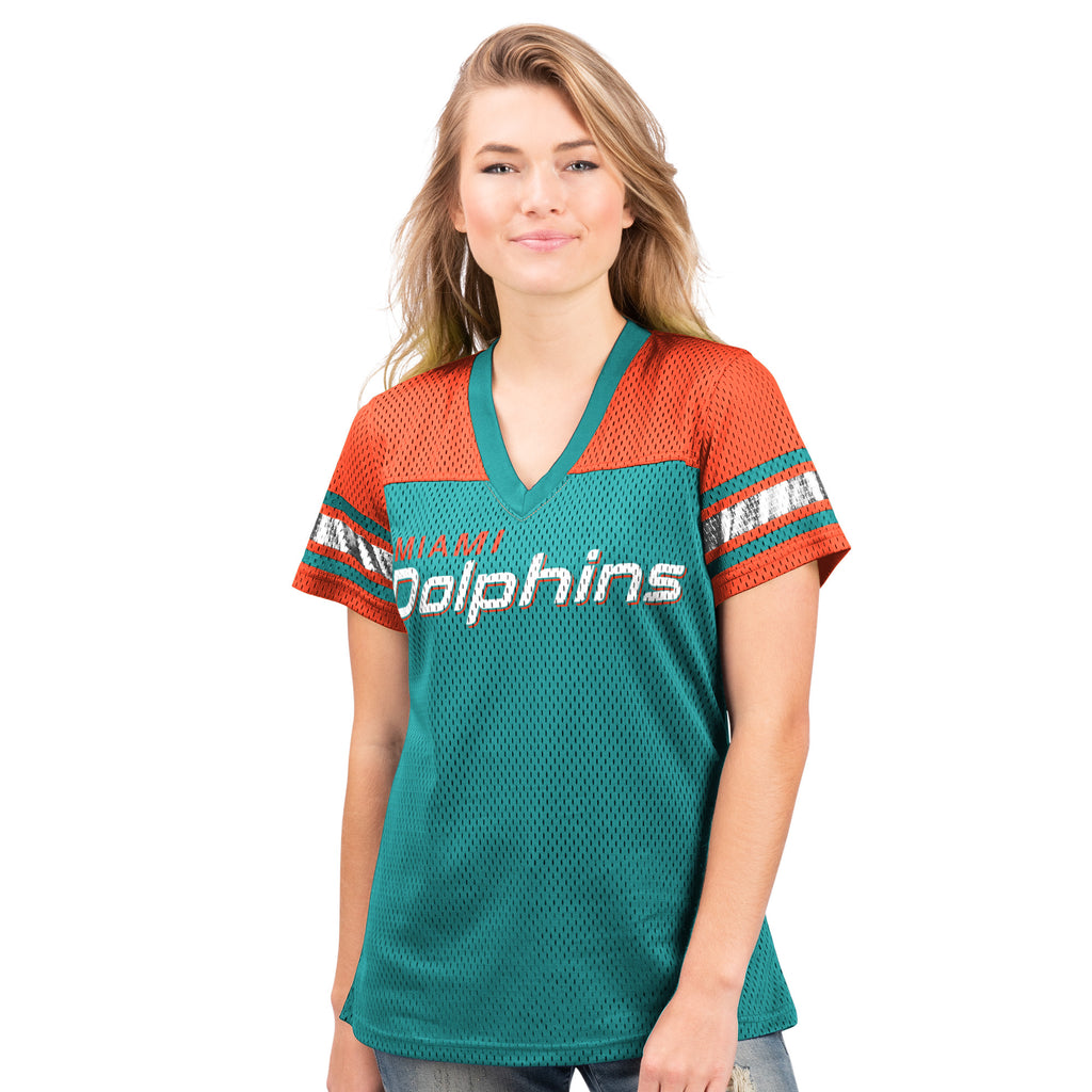 Miami Dolphins Glll 2019  Mesh Jersey Shirt - Aqua/Orange