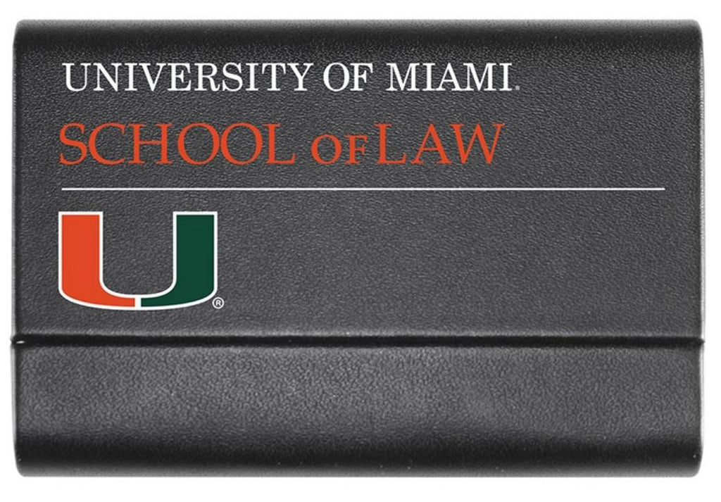 Miami Hurricanes School of Law Business Card Case