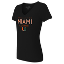 Miami Hurricanes Women's Alumni V-Neck T-Shirt -  Black