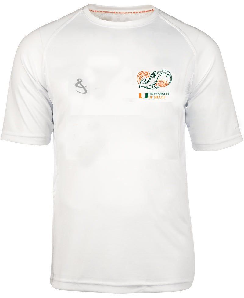 Miami Hurricanes Shark Research Seamount S/S Fishing Shirt - White