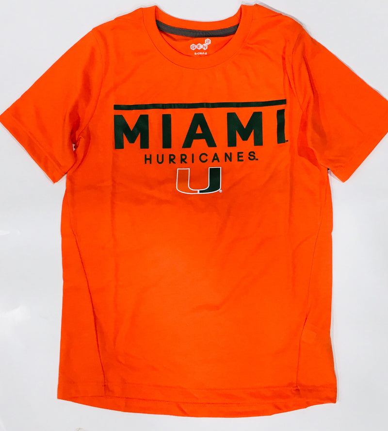 Miami Hurricanes Orange Line T-Shirt