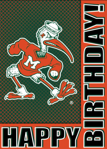 Miami Hurricanes Birthday Card - Sebastian