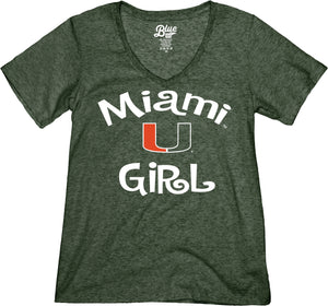 Miami Hurricanes Miami U Girl T-Shirt - Green