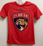 Florida Panthers Youth Bigger Logo Distressed Triblend T-Shirt - Red