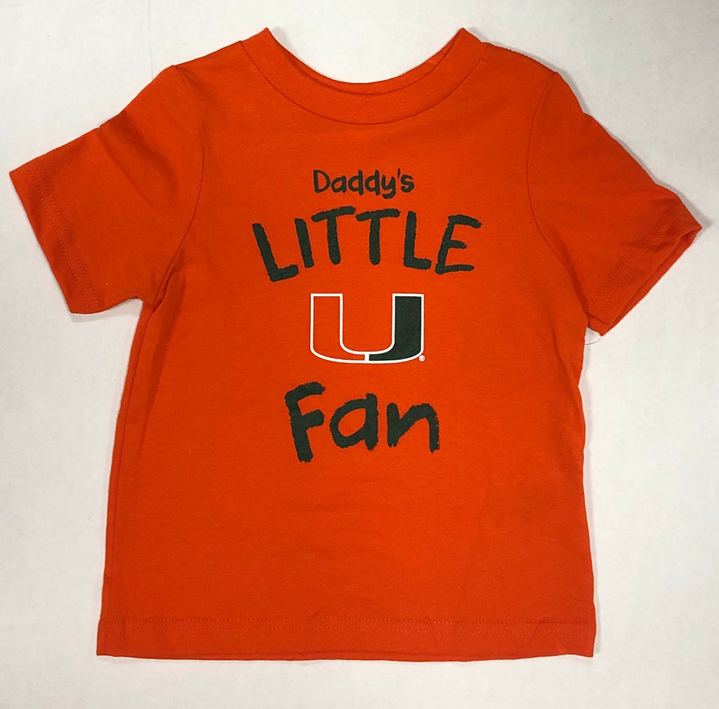 Miami Hurricanes Toddler Daddy's Little U Fan T-Shirt - Orange