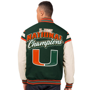 Miami Hurricanes G-lll 5 x Champions Commemorative Victory Jacket