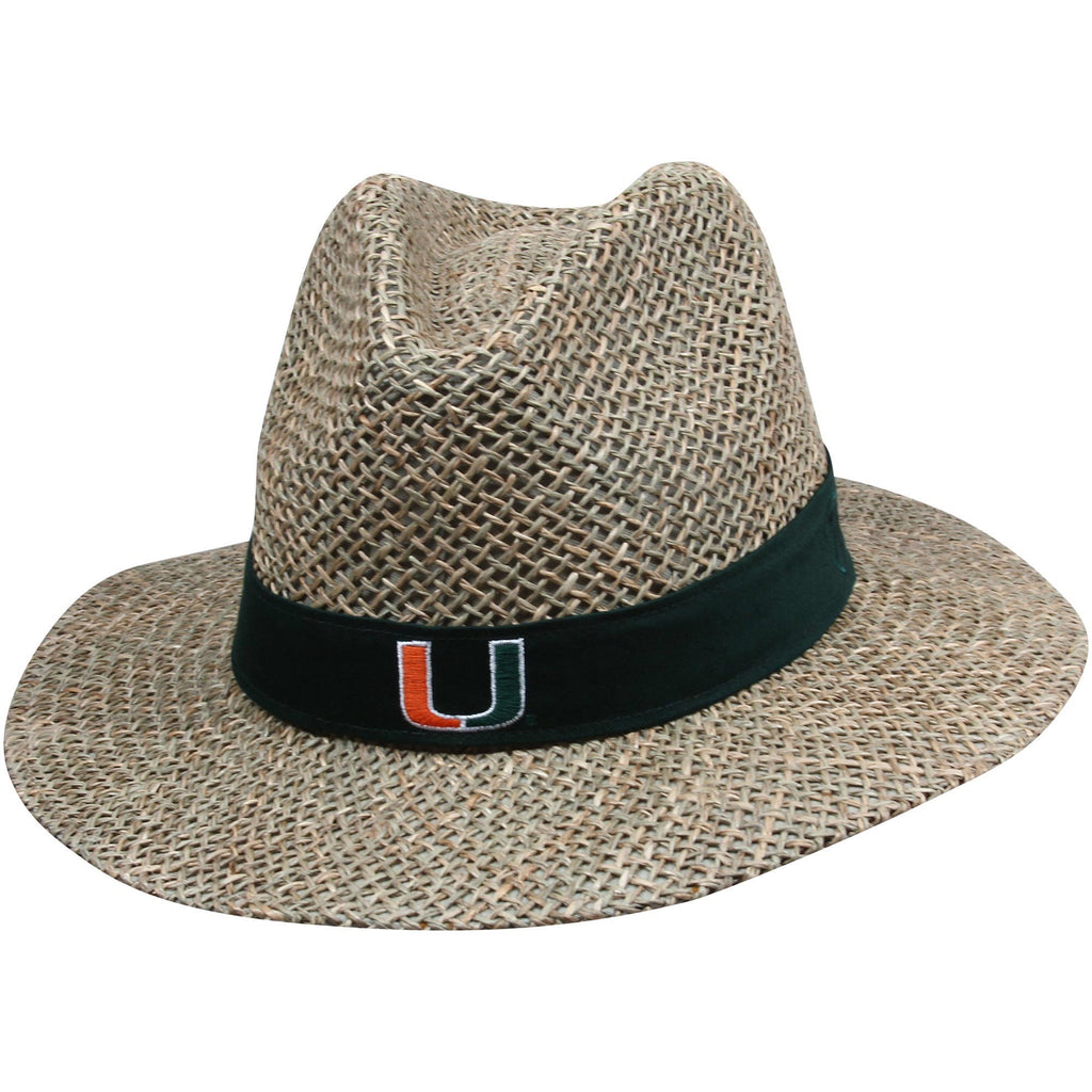 Miami Hurricanes Bunker Straw Hat