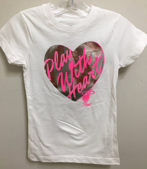 Miami Heat Youth Girl's Play With Heart T-Shirt