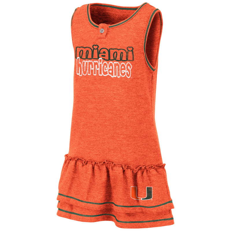 Miami Hurricanes Colosseum TODDLER GIRL'S BONN DRESS - ORANGE