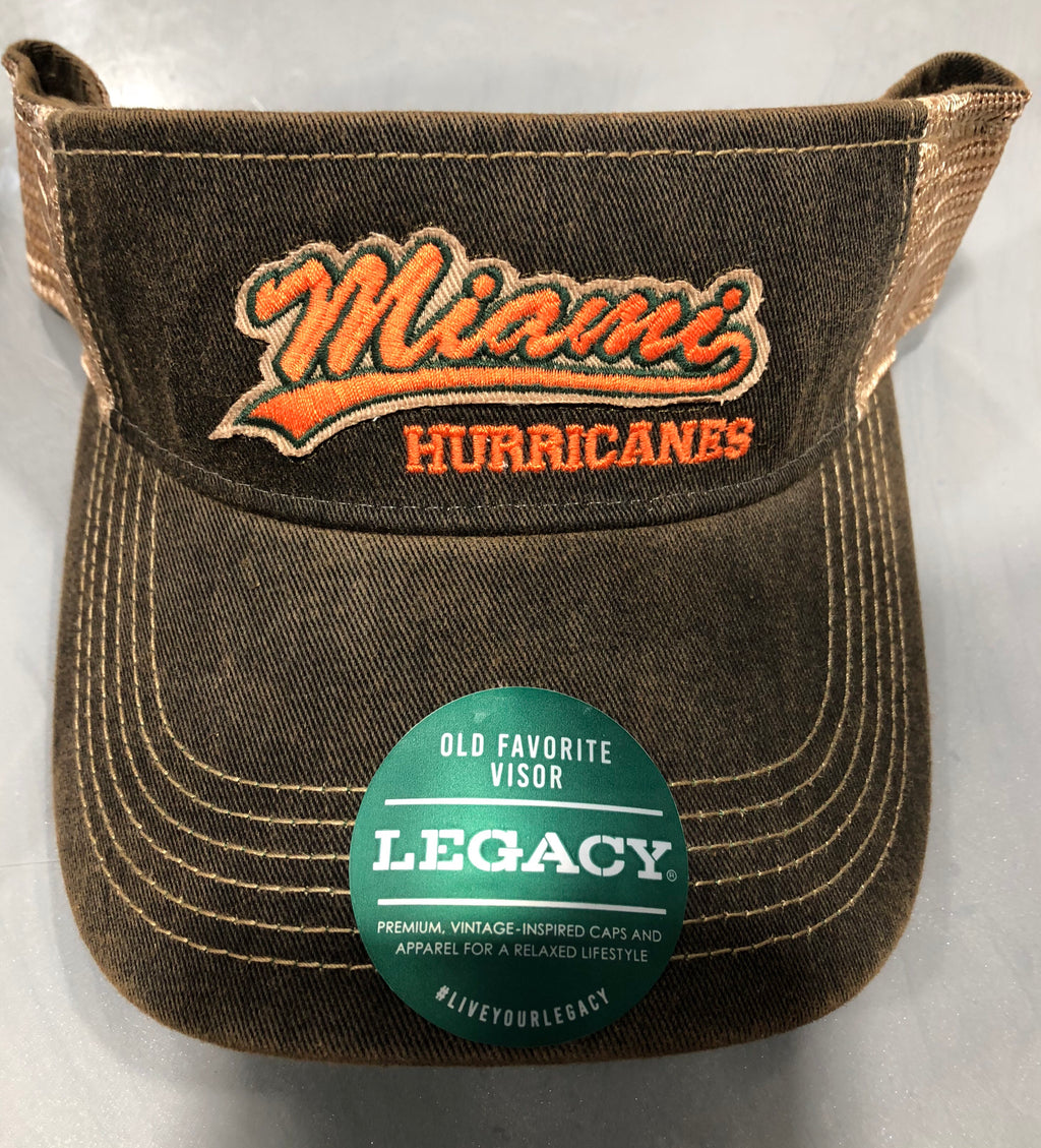 Miami Hurricanes Legacy Old Favorite Visor Snapback - Brown