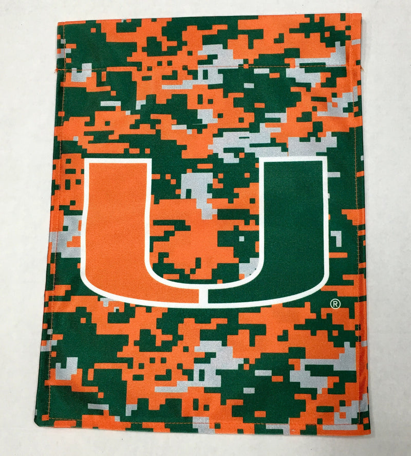 Miami Hurricanes Digi Camo Double-Sided Garden Flag 11