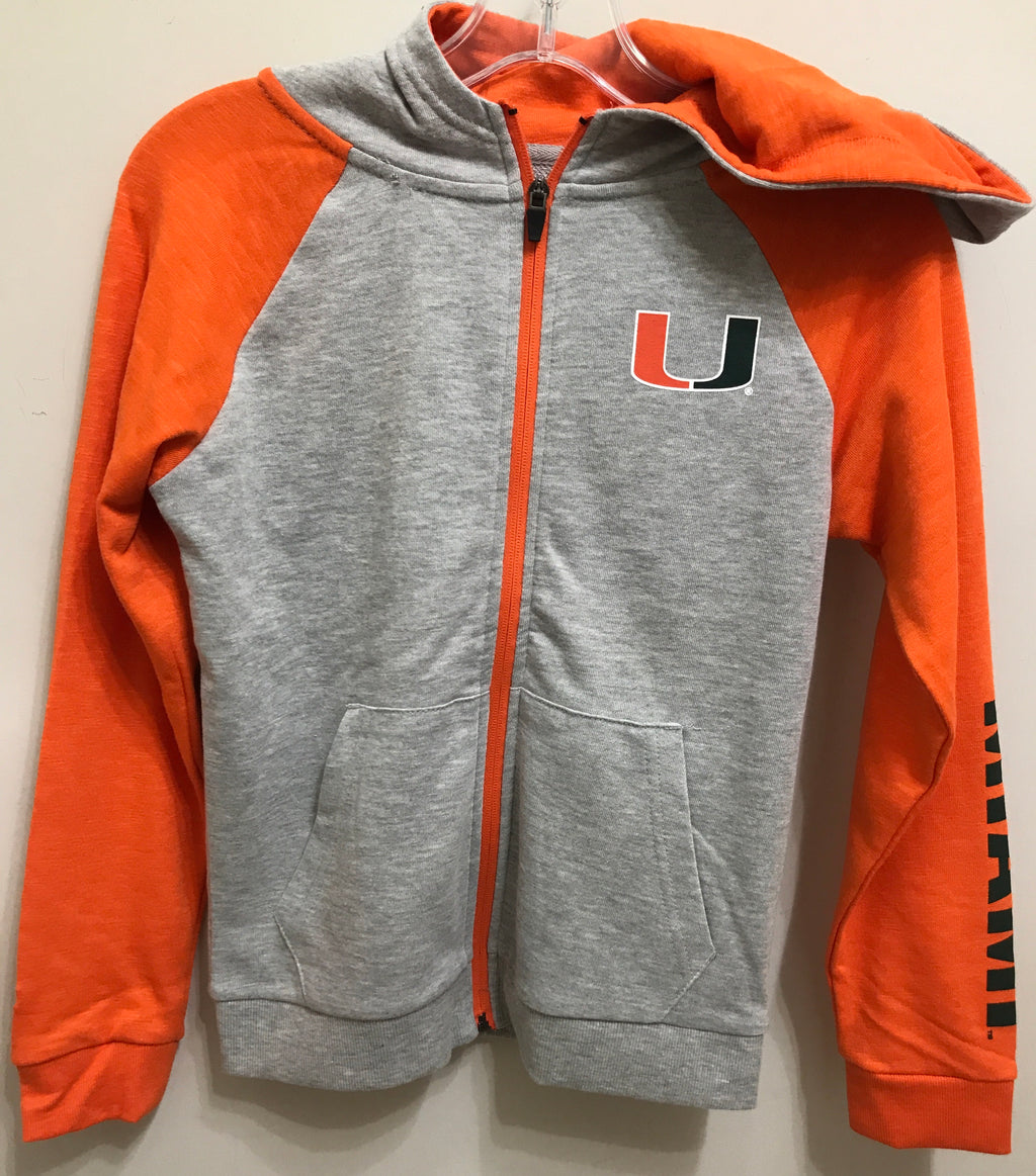 Miami Hurricanes Youth Parabolic Full Zip Hoodie