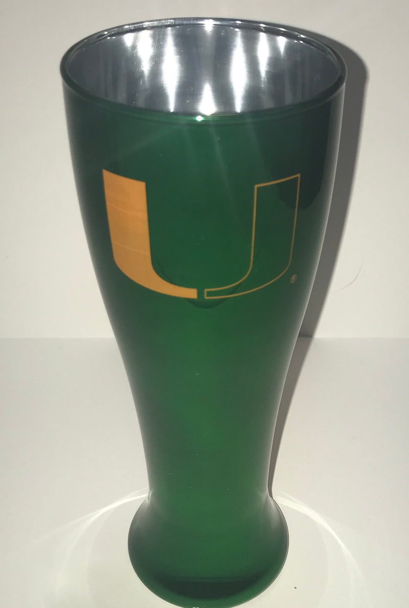 Miami Hurricanes Glass Pilsner - Solid Color