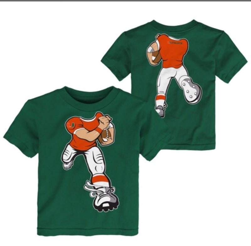 Miami Hurricanes Baby/Toddler Yard Rush T-Shirt