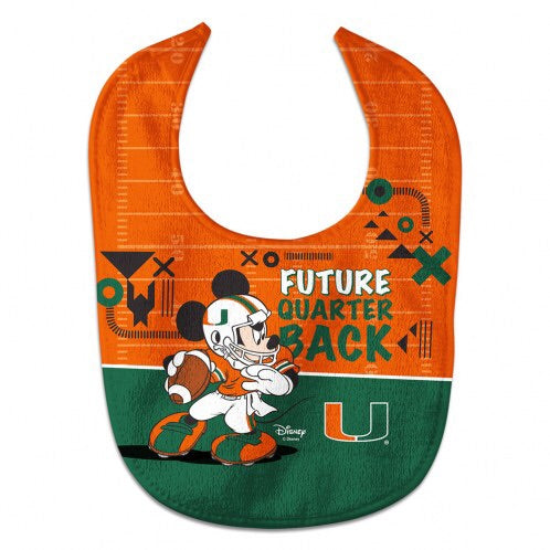 Miami Hurricanes All Pro Disney Mickey Mouse Baby Bib