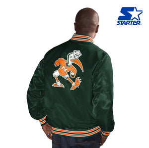 Miami Hurricanes Classic Starter Jacket- Vintage Green