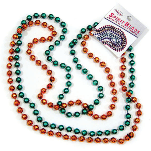 Green and Orange Spirit Beads necklace - 2 pk.