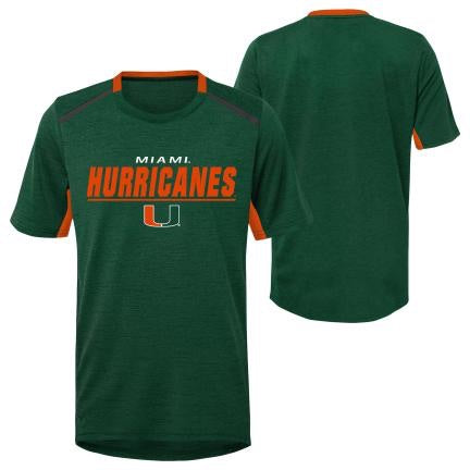 Miami Hurricanes Youth Performance T-Shirt - Green