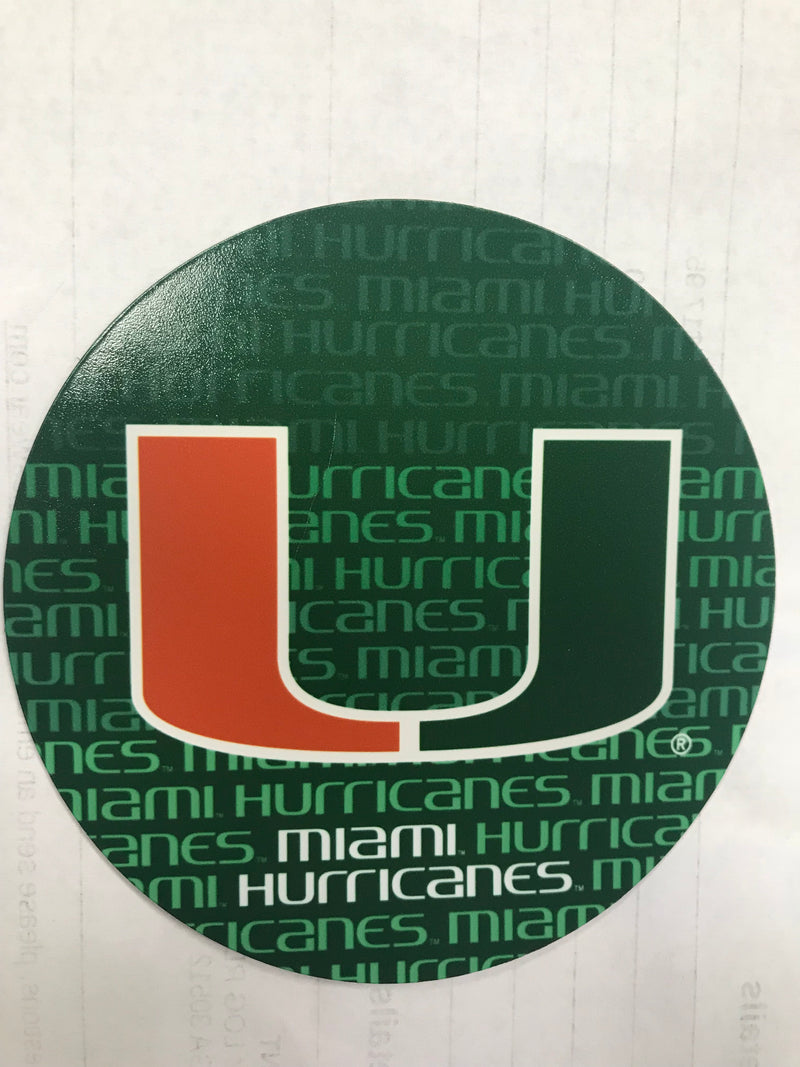 miami hurricanes magnet green